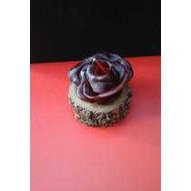 Souvenir Rosa De Vela -hecho A Mano Cumpleaños 50 60 70