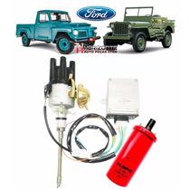 Kit Ignição Eletrônica Para Jeep Wyllis F-75 Rural 6cc Novo