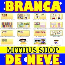 12 Kits Scrapbook Digital Branca De Neve + Brinde