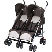 Carrinho De Bebê Para Gêmeos Duetto Brown - Burigotto