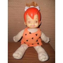 Muñeca Pebbles ( Hanna Barbera ) ( Fieltro Y Plástico )