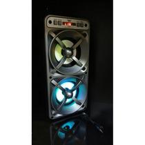 Caixa De Som Amplificada Bateria Usb Mp3 Radio Fm 20 W A -33