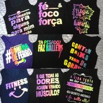 Kit 10 Regatinhas Femininas Estampadas Fitness Academia