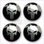 Juego De Tapacubos Punisher - Stickers Con Resina Para Auto