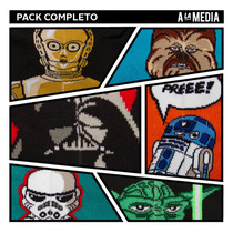 Pack Medias Star Wars Vader C3po Yoda Chewbacca R2d2 Trooper