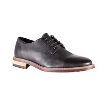 Fabian Arenas Zapato De Piel Negro Con Cordones