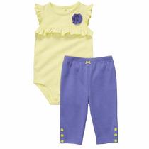 Conjunto Pañalero Pantalon Carters Niña Recien Nacido Nb