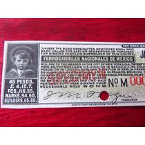 Billete Bono Ferrocarriles Nacionales De Mexico 1916