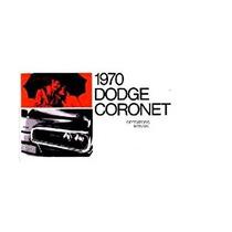 1970 Dodge Coronet Propietarios Guía Del Usuario Manual