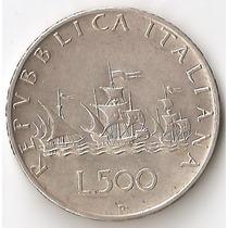 Italia, 500 Lire, 1960. Plata. Xf- / Xf