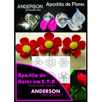 Kit Frisador Flores Eva Em Alumínio 12 Peças + Apostila