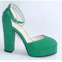 Sapato - Salto Quadrado - Meia Pata - Pronta Entrega