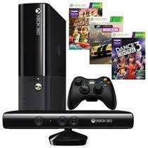 Xbox 360 250gb Com Kinect Controle S/ Fio +3 Jogos Originais