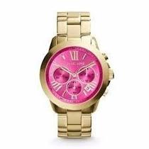 Relógio Michael Kors Mk5924 Original, Pink Completo + Envio
