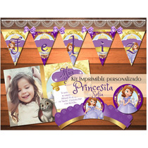 Kit Imprimible Princesita Sofia Vintage Candy Bar Princesas