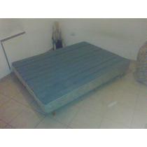 Sommier Con Colchon Resortes 2 Plazas 1.40x 1.90