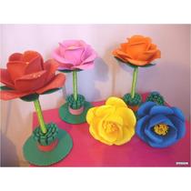 Plumas (bolígrafos) Decoradas Con Flores De Foami, Fomi