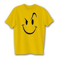 Camiseta Evil Smiley Color Oro