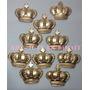 50 Coroas Douradas Em Biscuit 3,7cm Lembrancinhas Festa