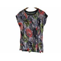 Hermosa Blusa Estampada En Seda Fria Talle Xl Cod. R155