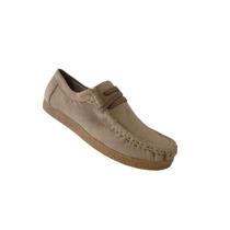 Sapato Feminino Casual Camurça Bege Cadarço Frontal Via Unn