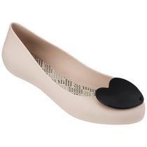 Mel Pop Heart Zapato Flat Dama Balerina Beige Mel By Melissa