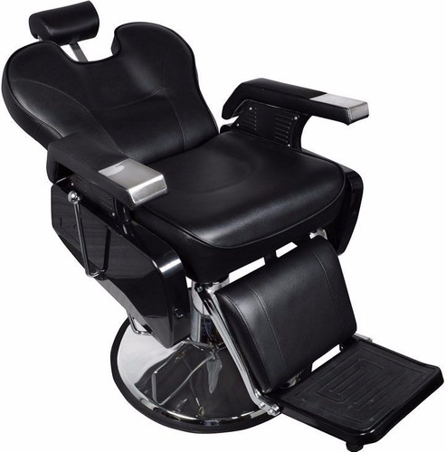 Silla sillon hidraulica reclinable barberia salon oferta for Sillas para barberia