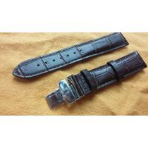 Pulseira Prc200 Tissot 19mm Couro Marrom Ou Preta