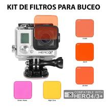 Gopro Kit De Filtros Para Buceo Hero 4 3+ Rojo Magenta Ama