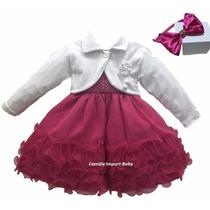Vestido De Festa Infantil Princesa Barbie Cinderela E Bolero