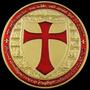 Moneda Templarios Coin, Medalla Oro