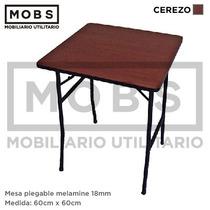 Mobs - Mesa Plegable Melamine 60x60 Otras Medidas Y Colores