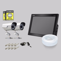 Kit Dvr Stand Alone Monitor 4 Canais Intelbras 2 Camera Sony
