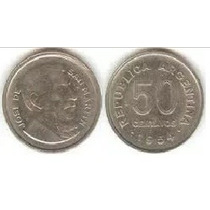 Moneda Argentina - 50 Centavos - 1956