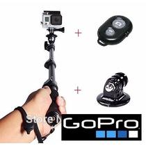 Gopro Go Pro Bastao Retratil Monopod + Controle + Tripod