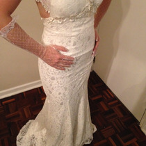 Luva Noiva Longa Casamento Debutante 15 Anos Brilhante Renda