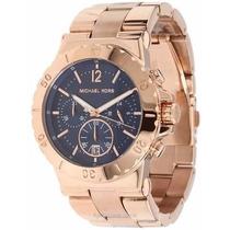Relógio Michael Kors Mk5410 Rose Fundo Azul 100% Original