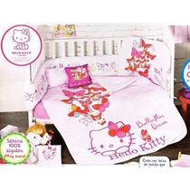 Hello Kitty Cunero Colcha Sabanas Cojin Almohada Rosa Nina C