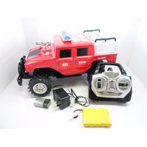 Carro Controle Remoto Jeep Hummer 34cm Recarregavel 4funcões