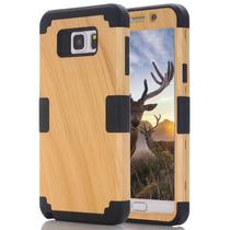 Funda Para Galaxy Note 5,3 In 1 Wood Series Hybrid Defender