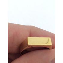 Anel Chapinha Em Ouro 18k 750 Com Garantia Permanente