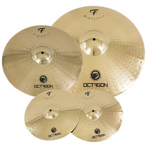 Kit De Pratos Octagon F Signature Com Crash 16¨, Chimbal 14¨