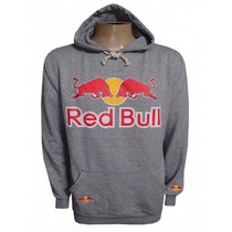Blusa Moletom Red Bull Cinza Fechada Rb5