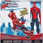 Hombre Araña Spider Man + Helicoptero Hasbro Juguetes