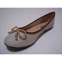 Sapato Sapatilha Moleca Original Bico Redondo Lacinho Ouro