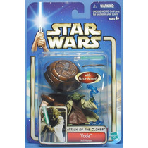 Star Wars Boneco Yoda Attack Of The Clones Hasbro.