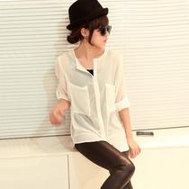 Blusa/camisa Blanca Chifon Talla Chica