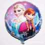 10 Balão Metalizado Frozen Elsa Ana 45cm Gás Hélio Festa