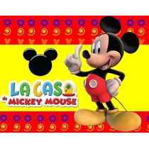 Kit Imprimible Mickey Mouse Rojo Incluye Candy Bar!!