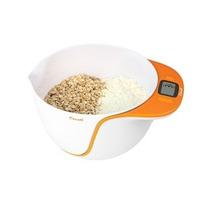 Báscula Cocina Alimentos Escali C/tazón Para Mezclar Naranja